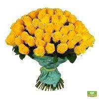 Купить 101 розу желтого цвета с доставкой