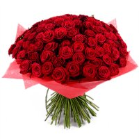 101 короткая красная роза
