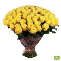 Заказать красивый букет из 111 желтых роз с доставкой