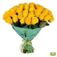 Купить красивый большой букет из желтых роз