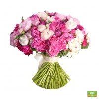 Купить букет розовых пион в интернет-магазине Флора2000.ру. Доставка!