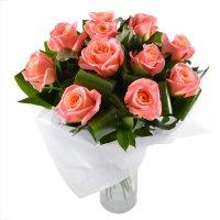 Клео, коралловые розы, букет из коралловых роз, персиковые розы, персиковый букет, букет для женщины
