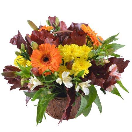 Осенняя корзина цветов