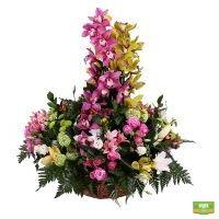 Красивый букет «Бал орхидей» купить в интернет магазине цветов