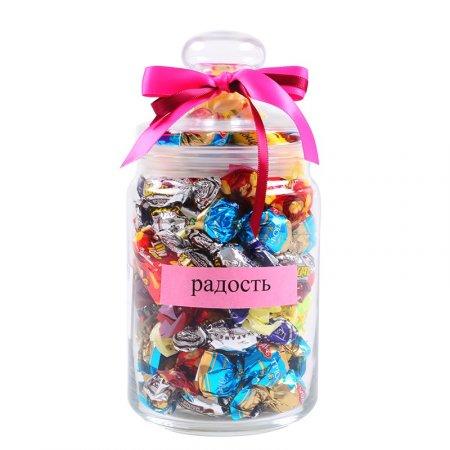 Банка с конфетами Радость