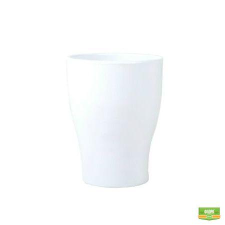 Белый вазон для орхидеи керамика