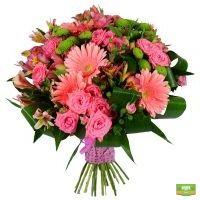 Оригинальный букет «Розовый букет любви»  с доставкой