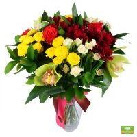 Заказать букет «Для учителя» с доставкой, красивый букет цветов с доставкой