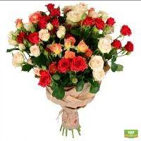 Заказать букет кустовых роз, красивый букет кустовых роз