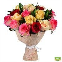 Заказать красивый букет «Из разноцветных роз»