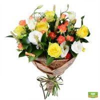 Букет «Николетта», оригинальный букет из желтых роз