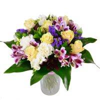 Букет «Летние цветы» на свадьбу, День Рождения, юбилей, выпускной