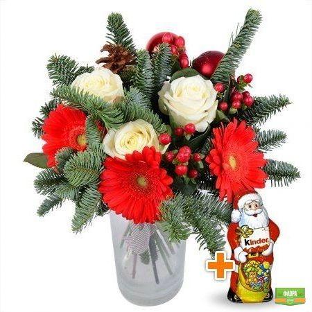 Елка+Шоколадный Дед Мороз
