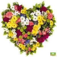 Заказать сердце из цветов для самых дорогих людей на 14 февраля