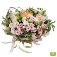 Заказать цветочную композицию «Нежность романтики»