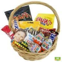 Корзина для сластены, корзина с конфетами, корзина с шоколадом, сладкий подарок, доставка подарка, н