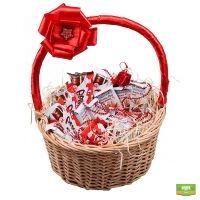 корзина со сладостями, сладкая корзина, корзина с шоколадками, подарочные корзины, подарочная корзин