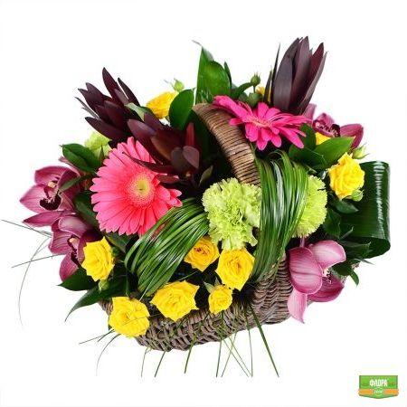 Летняя корзина цветов