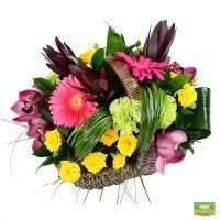 Букет «Летняя корзина цветов» - купить с доставкой по россии