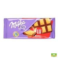 Milka chocolate and biscuit