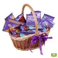 Корзина Милка, Корзина с шоколадом, корзина сладостей, корзина конфет, заказать корзину шоколада