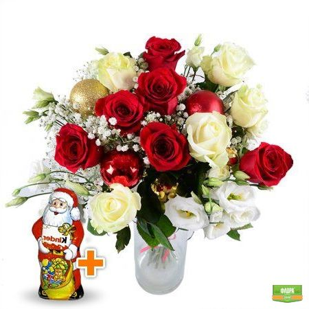 На Новый год+Шоколадный Дед Мороз