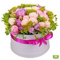 Заказать красивую композицию «Нежные цветы» в интернет-магазине Флора2000.ру.
