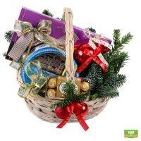 Заказать корзину со сладостями «Новогодний подарок». Доставка!