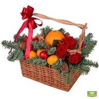 Купить красивую корзину с фруктами в интернет-магазине с доставкой