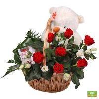 Заказать корзину красных роз в интернет-магазине