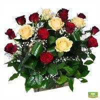 Заказать роскошную корзину красивых роз в интернет-магазине Флора2000.ру. Доставка!