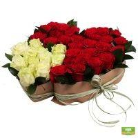 Заказать красивый букет «Два любящих сердца» с доставкой