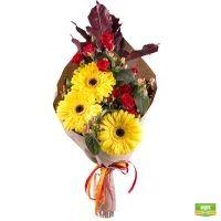 Купить солнечный букет «Пламя осени» в интернет-магазине Флора2000.ру. Доставка!