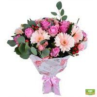 Купить розовый букет «Песни Сирены» с доставкой