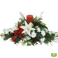 «Праздничная композиция со свечой» купить с доставкой