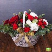 Заказать новогоднюю композицию «Праздничные огоньки» в интернет-магазине с доставкой