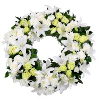Ритуальная композиция из живых цветов № 6