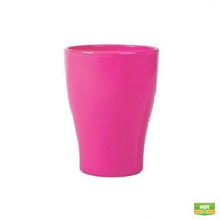 Розовый вазон для орхидеи керамика