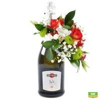 Шампанское Asti Martini с декором ко дню влюбленны