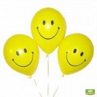 Заказать воздушные гелиевые шарики «3 смайлика» в интернет-магазине