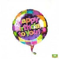 Купить «Шарики фольгированные с днем рождения поштучно» в интернет-магазине