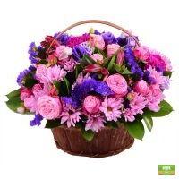 «Сиреневая корзинка» цветов, заказать корзину цветов с доствкой