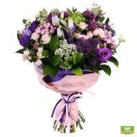Купить красивый букет из роз «Сиреневый рай» в интернет магазине цветов
