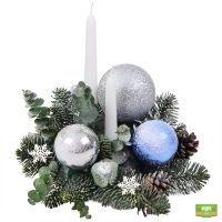 Заказать новогоднюю композицию из еловых веток и декора