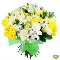 яркий букет, букет цветов с доставкой