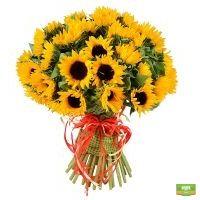 Букет с подсолнухами купить в интернет магазине цветов