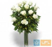 Траурний букет из живых цветов № 14