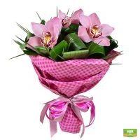 Купить красивый букет «Три орхидеи» с доставкой