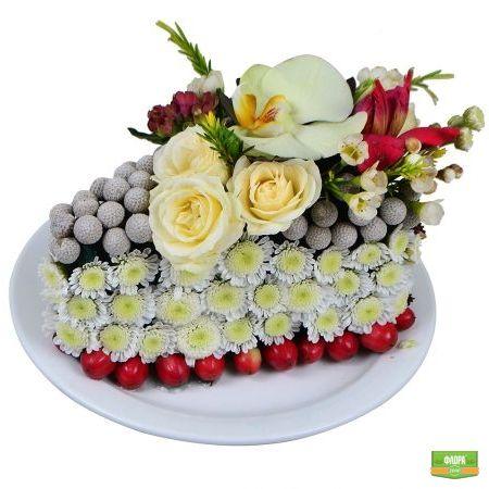 Цветочное пирожное