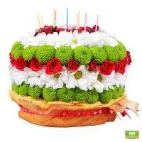 Букет «Цветочный торт» фото